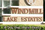Windmill Lake community sign
